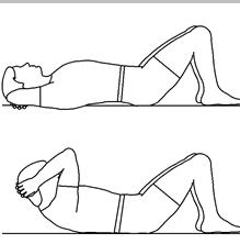 Nothing like some ab sculpting crunches. Your leg may to hurt, but your abs don't have to suffer